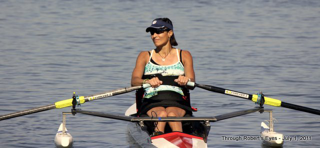 Trish Downing at rowing trials