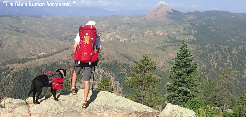 Trevor Thomas hikes Colorado Trail