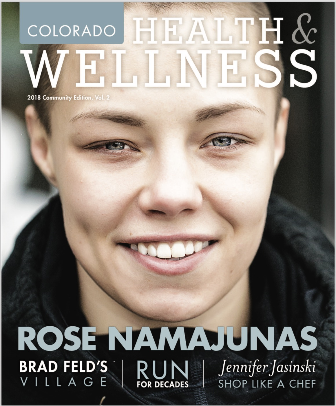 Rose Namajunas Colorado Health & Wellness magazine