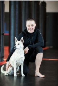 Rose Namajunas dog Mishka